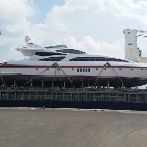 United Yacht Transport - Strapped Down for Secure Yacht Transport from Genoa, Italy
