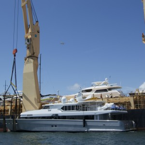 United Yacht Transport - M/Y Solaris Before Loading on the Tong An Cheng
