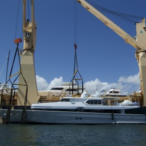 United Yacht Transport - Awaiting Loading on Tong An Cheng Loading