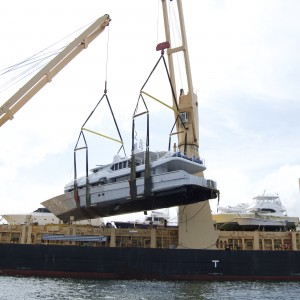 United Yacht Transport -  M/Y Solaris Craned for Secure Yacht Transport