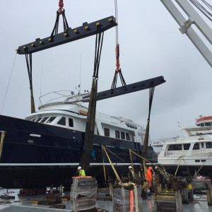 United Yacht Transport - M/Y Impossible Dream Loaded for Secure Global Transport