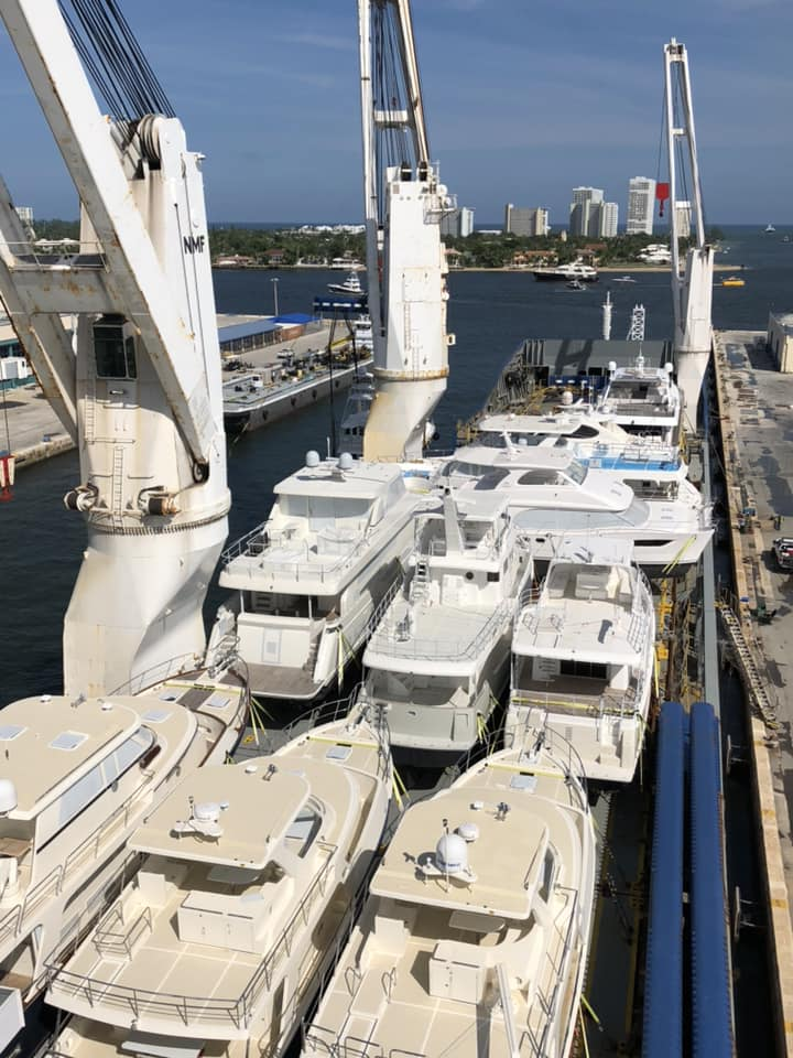 United Yacht Boats Loaded